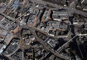 Hanley Stoke-on-Trent Staffordshire aerial photograph