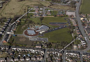 Kingsland Primary School  Stoke-on-Trent Staffordshire aerial photograph