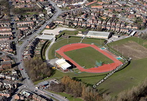 Northwood Stadium Stoke-on-Trent Staffordshire aerial photograph