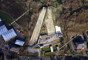 Stoke Ski Centre Stoke-on-Trent Staffordshire aerial photograph