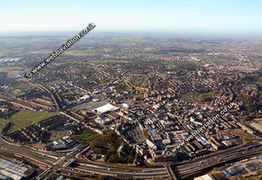 Stoke-on-Trent Staffordshire aerial photograph