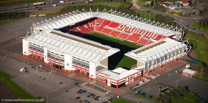 bet365 Stadium football stadium , aka Britannia Stadium Stoke-on-Trent  from the air
