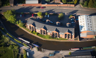 New Canalside Apartments, Stone, Staffordshire aerial photograph