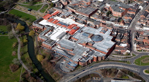 Ankerside Shopping Centre from the air