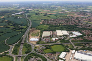 Junction 10 M42 at  Tamworth  aerial photograph