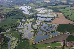 RSPB Middleton Lakes  nature reserve  Tamworth aerial photograph