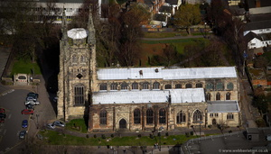St Editha Church Tamworth from the air