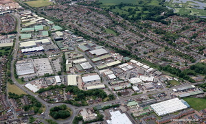 Tame Valley Industrial Estate Tamworth  , Staffordshire UK aerial photograph