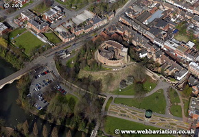 Tamworth Castle  Staffordshire aerial photograph