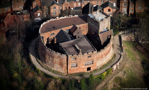 Tamworth Castle from the air