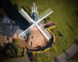 Upper Longdon Windmill Staffordshire aerial photograph