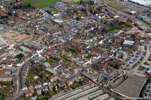 Uttoxeter town centre from the air