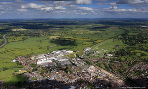 Uttoxeter Staffordshire  from the air