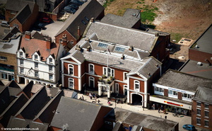 Uttoxeter Town Hall  from the air