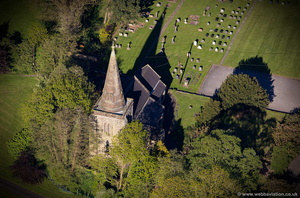 St. Andrew's Church Weston aerial photograph