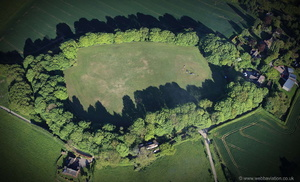 Berry Ring hillfort from the air