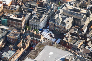 Ipswich Town Hall aerial photograph