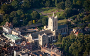 St Edmundsbury Cathedral  Bury St Edmunds from the air