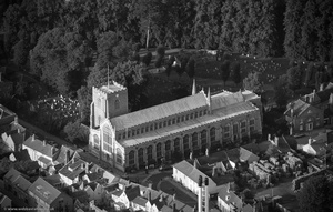 St Mary's Church Bury St Edmunds from the air