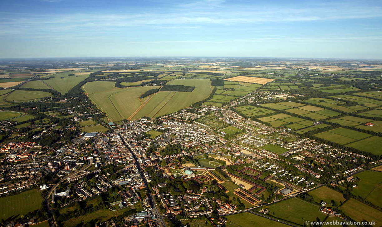 Newmarket, Suffolk from the air