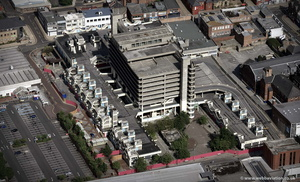 Trinity Square shopping centre Gateshead from the air