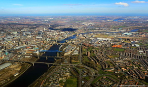 River Tyne from the air