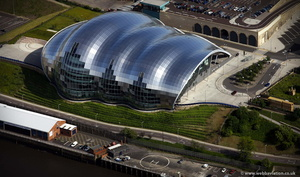 Sage Gateshead Tyne and Wear aerial photograph