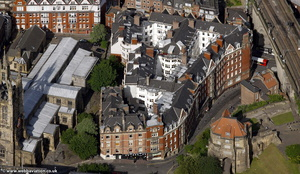 Amen Corner and Milburn House Newcastle from the air