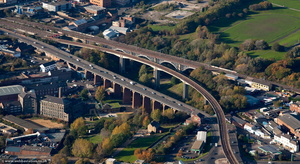Byker Viaduct  Newcastle  from the air