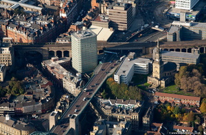 Cale Cross House, Newcastle upon Tyne  from the air