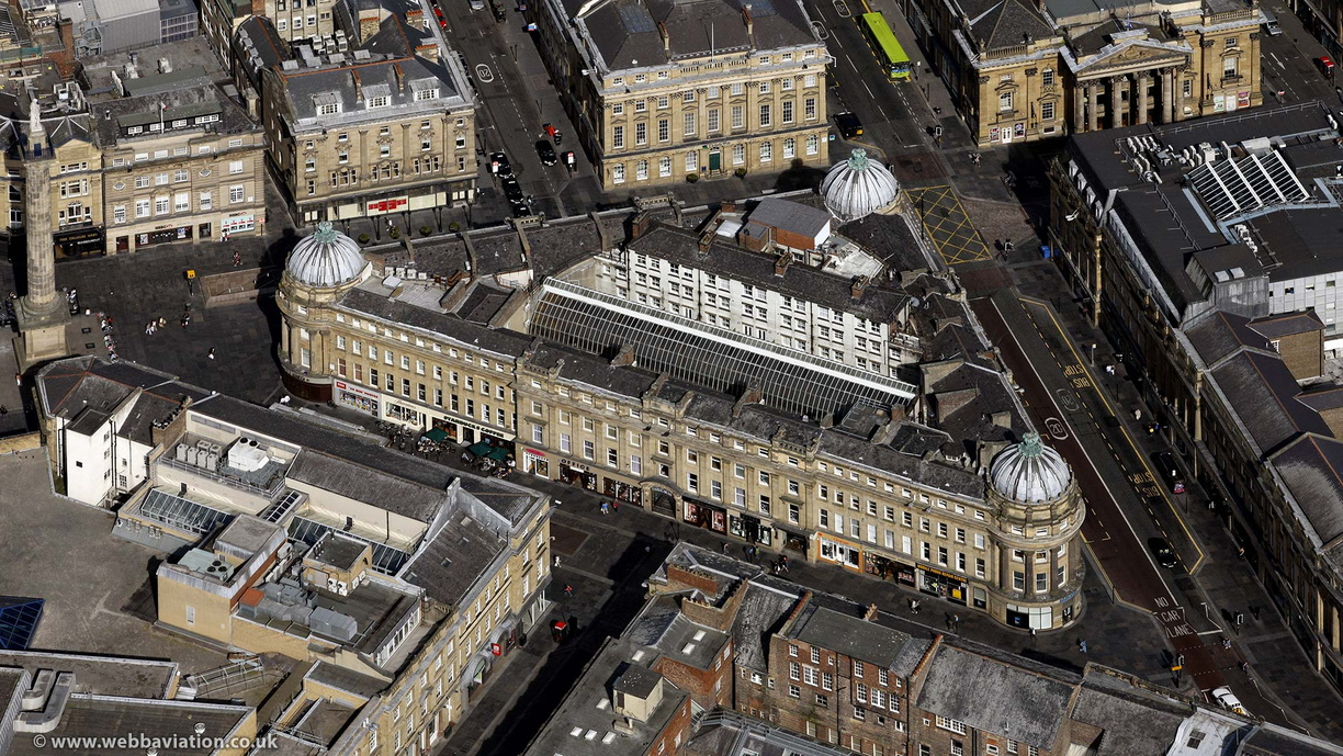 Central Arcade, Newcastle upon Tyne from the air