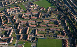 Longbenton  Newcastle  from the air