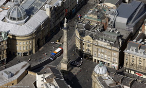 Earl Grey Monument Newcastle upon Tyne aerial photo