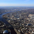 River Tyne and  Newcastle upon Tyne  city centre  aerial photo