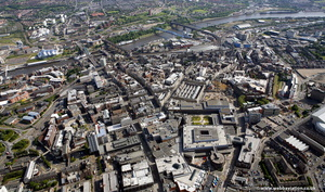Newcastle upon Tyne city centre  aerial photo