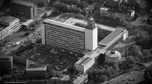 Newcastle Civic Centre from the air