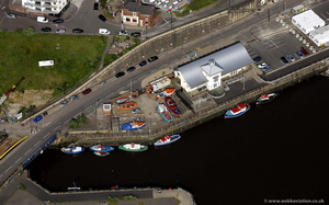 Quayside in Ouseburn  Newcastle   from the air