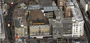 Grey Street Newcastle upon Tyne  from the air