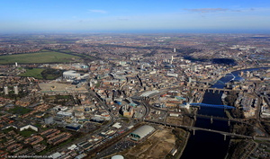 the River Tyne Newcastle upon TyneTyne and Wear aerial photograph
