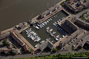 St Peters Basin Newcastle from the air