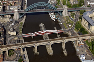 River Tyne bridges  aerial photo