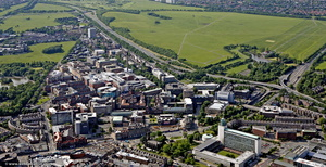 The Royal Victoria Infirmary (RVI)   Newcastle   from the air