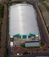 Utilita Arena Newcastle  from the air
