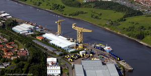 TechnipFMC Umbilicals , formerley DUCO Newcastle  aerial photo