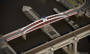 the Swing Bridge, River Tyne  Newcastle upon TyneTyne and Wear aerial photograph