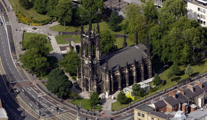 St Thomas's Church  Newcastle   from the air