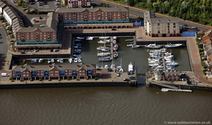 St. Peter's Basin Newcastle from the air