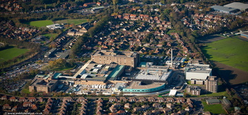 Freeman Hospital Newcastle upon TyneTyne and Wear aerial photograph