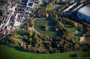 Leazes Park Newcastle from the air