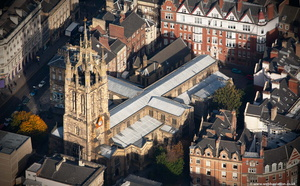 Newcastle Cathedral from the air